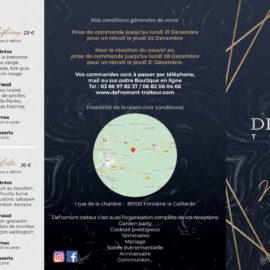 Carte Noel Defromont Traiteur 2020
